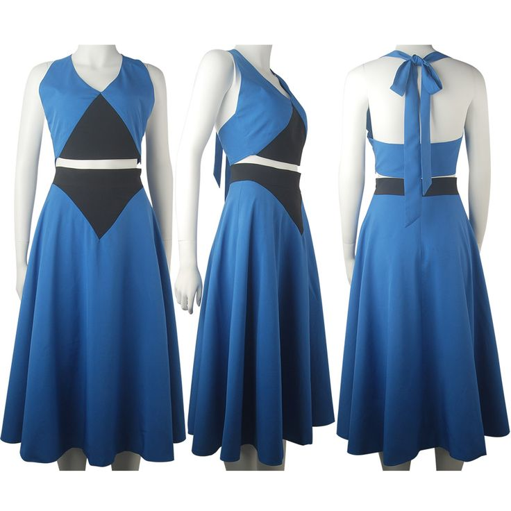 Steven Universe Lapis Lazuli Blue Dress Halloween Cosplay Costume Daily Wear