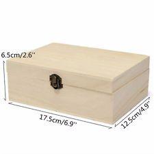 Wood Storage Box Wooden With Lid Postcard Organizer Handmade Jewelry Case UK