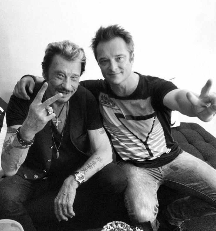 Johnny and David Hallyday