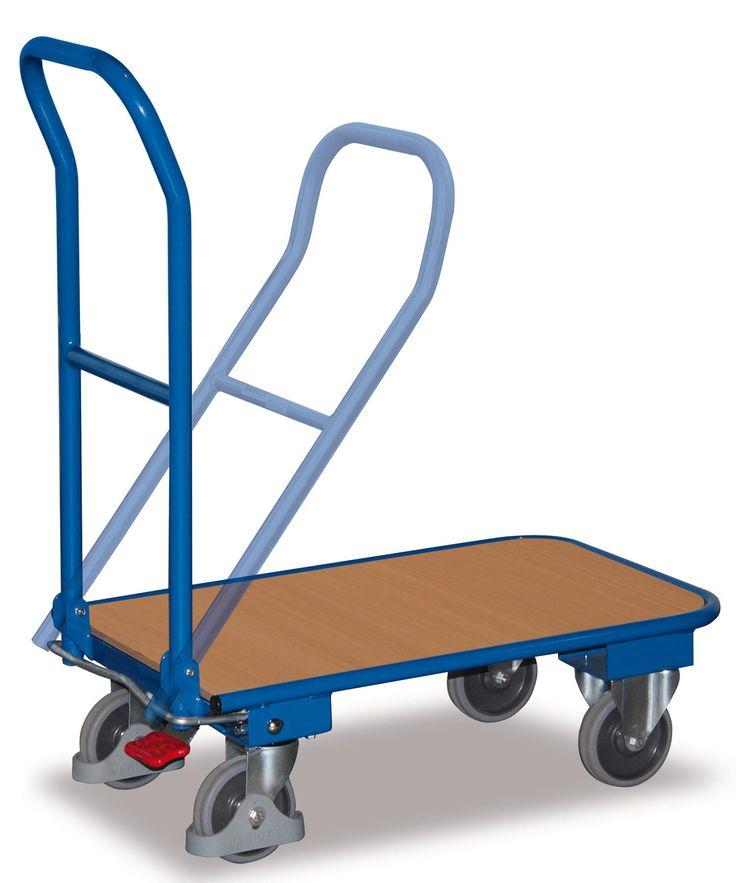 GTARDO.DE:  Stahl-Klappwagen, Tragkraft 150 kg, Ladefläche 720 x 450 mm, Maße 820 x 470 x 936 mm, Rad 125 mm 121,00 €
