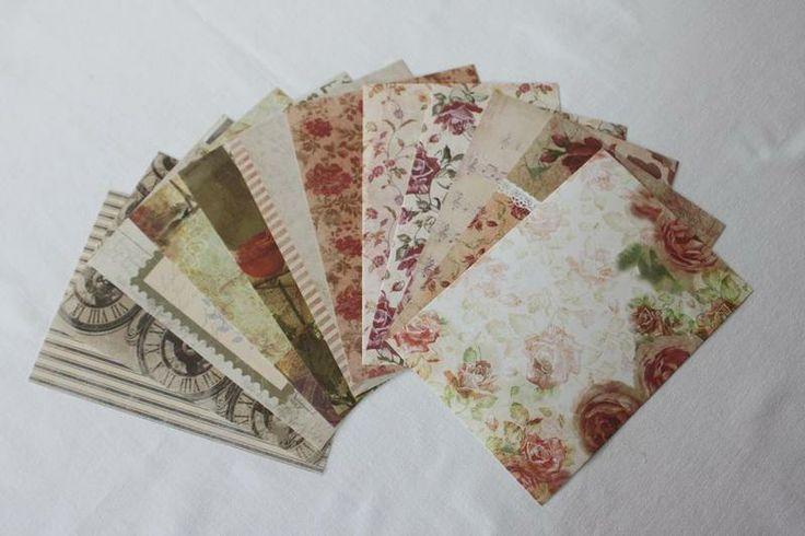 (RI 2) - 12 Blatt - Scrapbookingpapier- einseitig von Papieratelier auf DaWanda.com