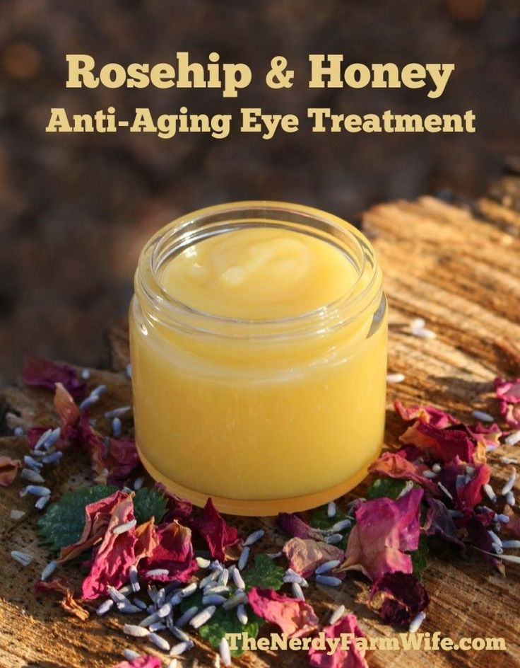 This Rosehip & Honey Anti-Aging Eye Treatment is perfect for dabbing around your eyes, on laugh... #AntiAgingTips