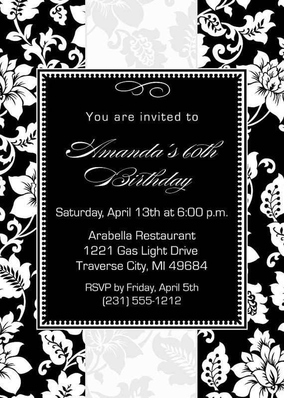 67 best Adult Birthday Party Invitations images on Pinterest - office bridal shower invitation wording
