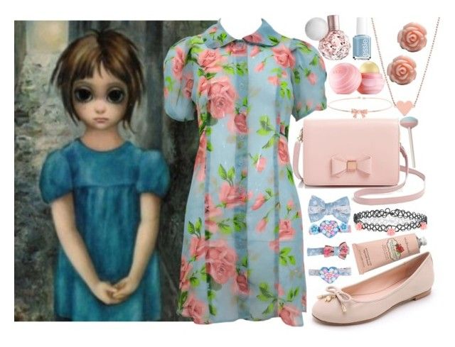 """""""BIG EYES"""" by loveselena22 ❤ liked on Polyvore featuring Ted Baker, Betsey Johnson, Eos, Kate Spade, Monsoon, Essie and Crabtree & Evelyn"""