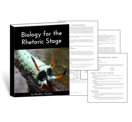 Biology for the Rhetoric Stage makes teaching high school biology easy for you! This guide lays out a complete one year, full credit high school course.