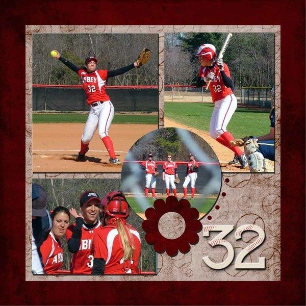 softball scrapbooking idea | softball | Scrapbook page ideas