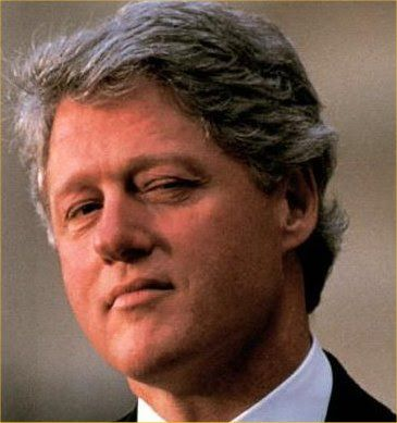 William Jefferson Clinton (born William Jefferson Blythe III) 4nd president of the United States 1993-2001 Clinton was impeached for perjury before a grand jury during his presidency