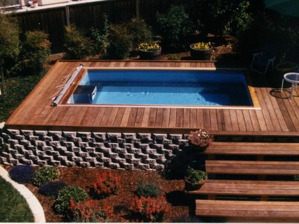 84 best piscine images on Pinterest Swimming pools, Ground pools - piscine hors sol beton aspect bois
