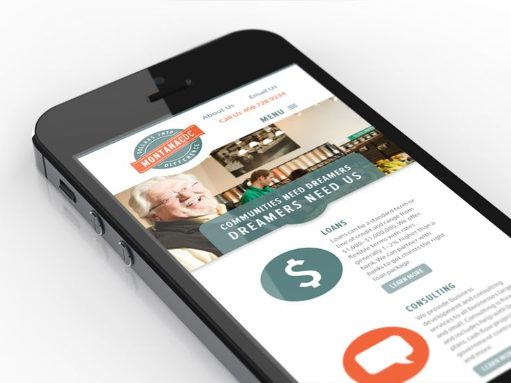 Mobile version of #Minimalistic #UI for Montana CDC website