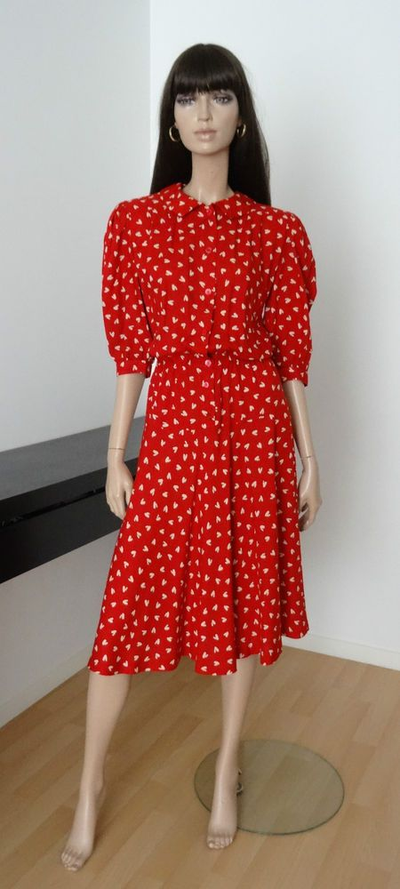 ROBE VINTAGE GUY LAROCHE ROUGE TAILLE 38