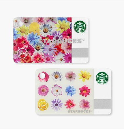 ミニ スターバックス カード フラワー カラー / ホワイト 画像