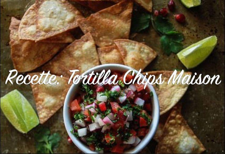 Recette: Tortilla chips faites maison  Vidéo disponible sur ma chaine Youtube, abonnez-vous afin de ne rien manquer!   Ingrédients: -Quelques tortillas de blé entiers (ou de maïs)  -1 gousse d'ail hachée -1 c. à soupe d'huile d'olive -Épices de votre choix (J'ai utilisé: Sel, poivre et épices italiennes)  Méthode: Visitez mon blog!