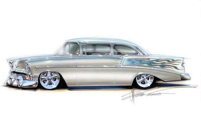 chip foose car drawings