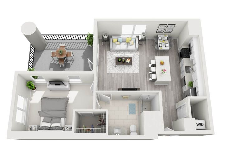 100+ Small Studio Apartment Layout Design Ideas