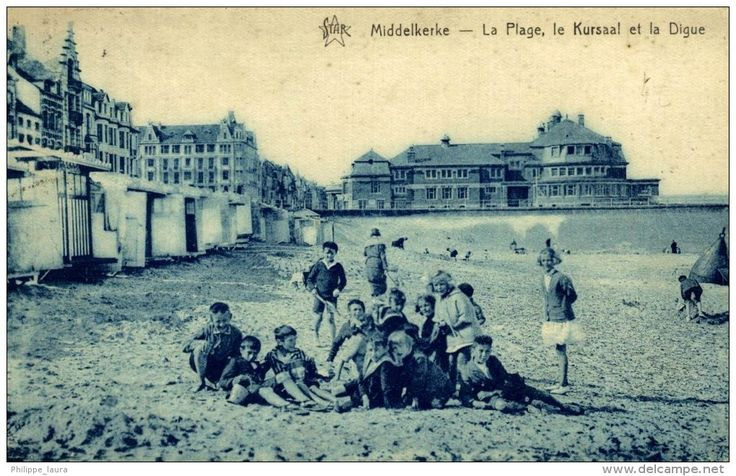 1923  MIDDELKERKE LA PLAGE LE KURSAAL ET LA DIGUE   - Timbrée