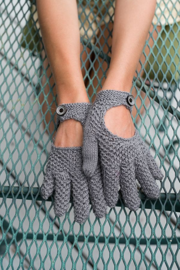 Bring a touch of Downton Abbey to your wardrobe with Kristen Jancuk's Helena knit gloves.