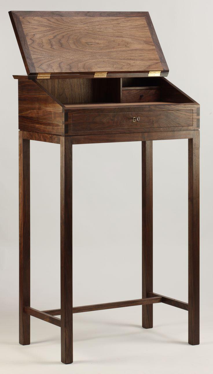 Writing desk. #handmade #wood #cabinetmaker http://www.kjeldtoft.com/