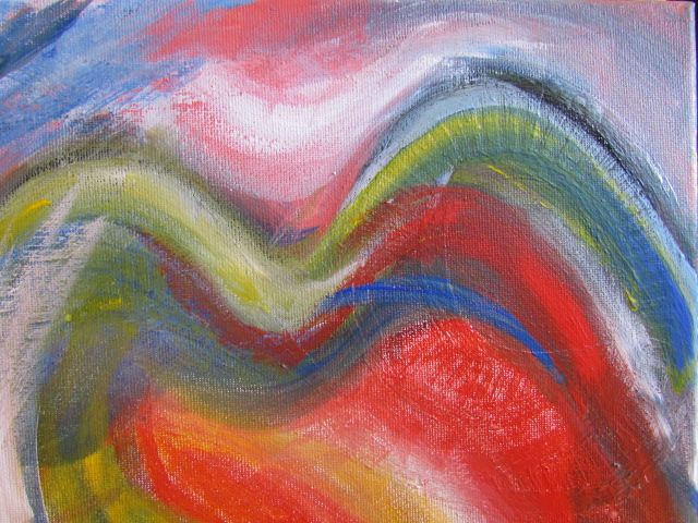 Visions by Ange Hart. Acrylic on canvas.