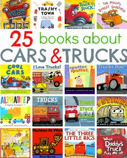Books about cars and trucks. Great books for boys in this holiday.