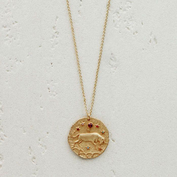 Sagittaire Zodiac symbole argent ou plaqué or pendentif-horoscopes Star signes