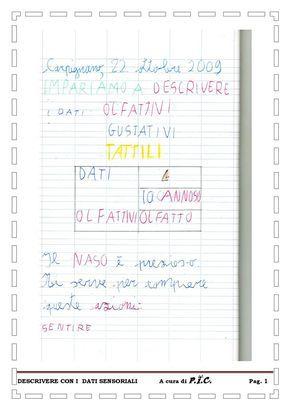 Descrivere con i dati ...olfattivi, gustativi e tattili | PDF to Flipbook