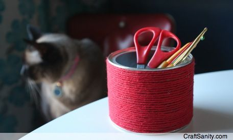 How-To: Recycled Container Craft Organizers