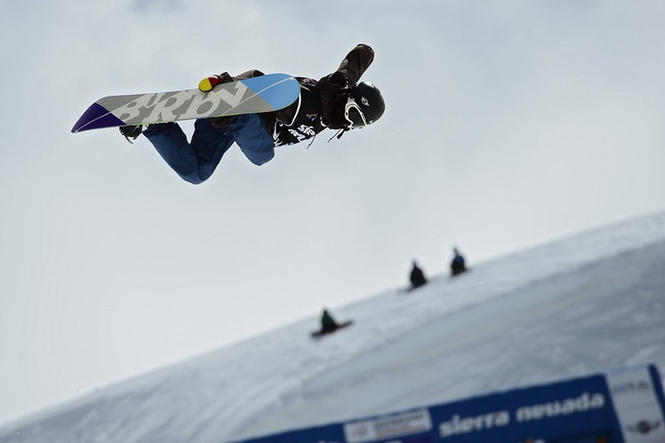 Chinese snowboarder Yiwei Zhang competes in the Men's Half-Pipe final race at the Snowboard and FreeStyle World Cup Super finals at Sierra Nevada ski resort near Granada on March 27, 2013. Yiwei Zhang took seventh place of the event. JAVIER SORIANO/AFP/Getty Images
