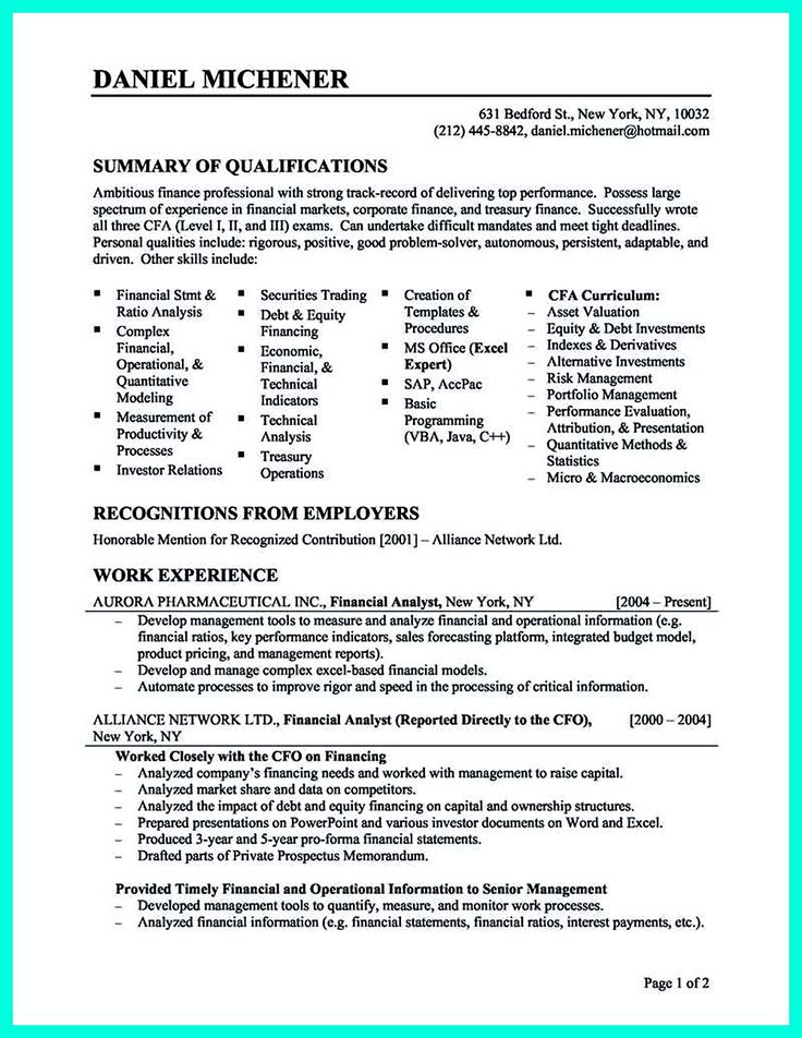 Writing credit analyst resume is a must if you want to get a job related to credit analyst. For professional credit analyst, the resume must show how ... credit risk analyst resume