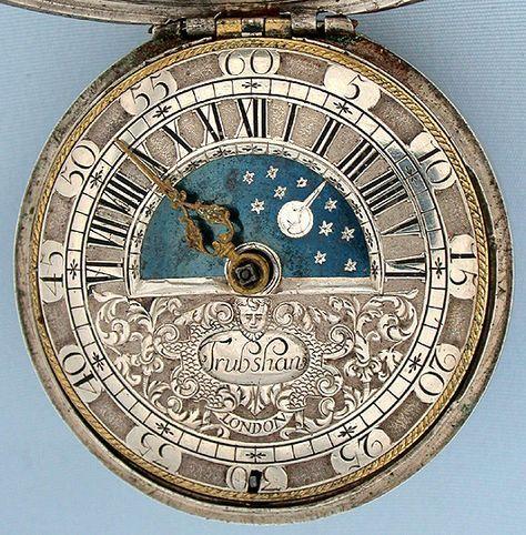 Sun & Moon Pocket Watch circa 1695. Excellent condition. $6750