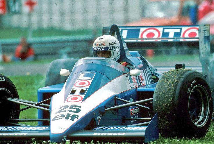 René Arnoux, Ligier-Renault, San Marino GP, 1986. #F1