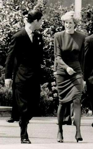 April 21, 1987: Princess Diana and Prince Charles Heathrow Airport en route to Madrid, Spain.