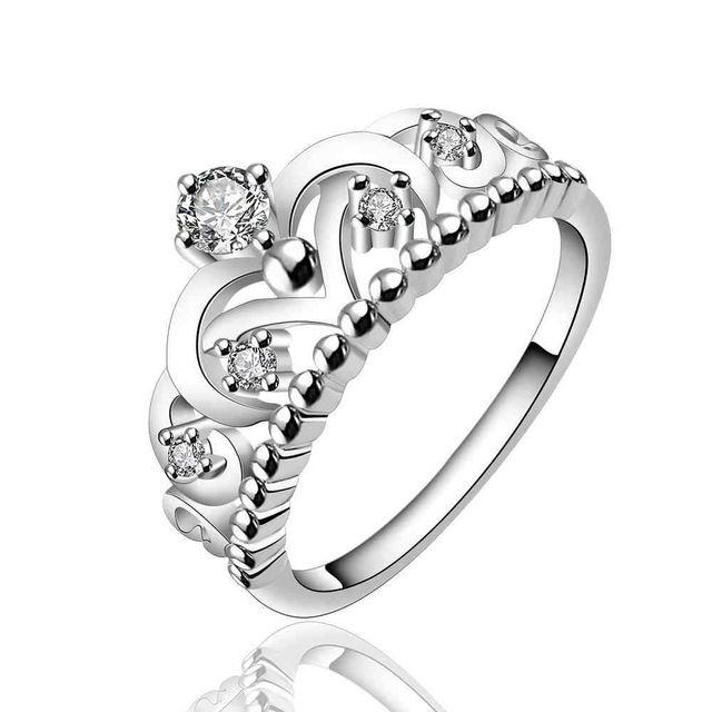 Verzilverd ringen anillo VS EURO Style Fashion verzilverd crown alleen kroon Ring Groothandel Sieraden SMTR601