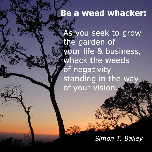 Be a weed whacker!  #quote #inspirationWeed Whacker, Success Quotes, Quotes Inspiration, Quality Quotes, Brilliant Quotes