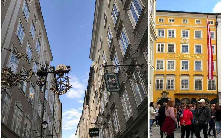 La Getreidegasse a Salisburgo - Un itinerario di 4 giorni a Salisburgo e nel salisburghese, alla scoperta della città di Mozart e della musica, tra sfarzosi palazzi barocchi, inespugnabili fortezze e montagne innevate.