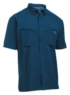 Under Armour Tide Chaser Short-Sleeve Fishing Shirt for Men - Blackout Navy/Steel - 2XL