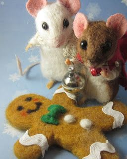 Needle Felted Art by Robin Joy Andreae: Vanilla, Spice & Ginger