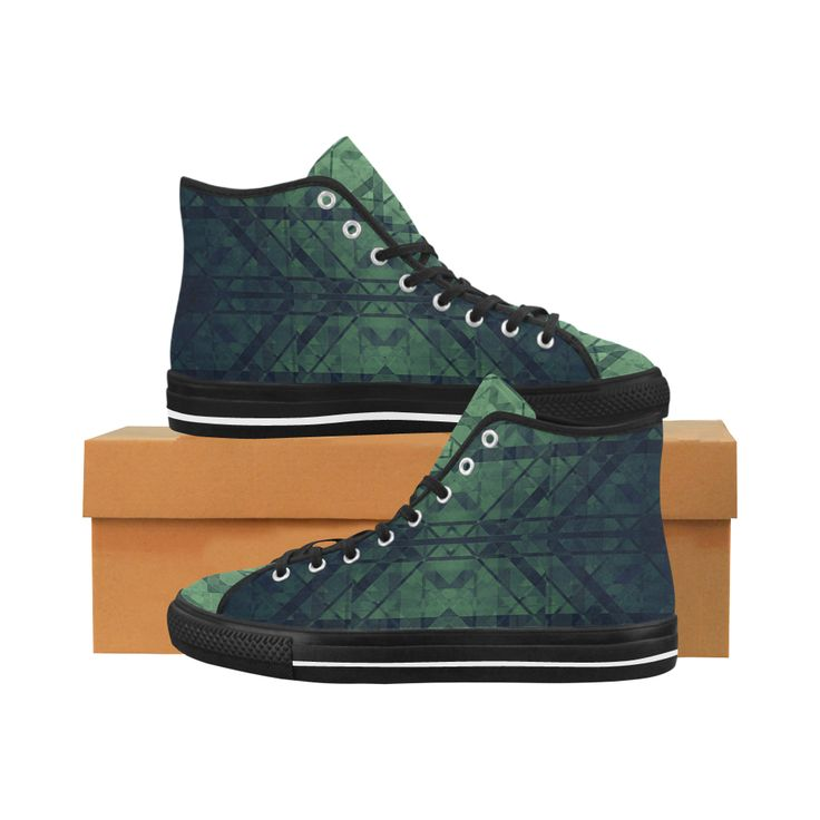 Sci-Fi Green Monster Geometric design Vancouver H Men's Canvas Shoes by Scar Design. #shoes #style #fashion #sneakers #art  #modern #online #shopping #39 #geometric #family #giftsforhim #giftsforher #womensshoew #mensshoes #kidsshoes #boots #scardesign #artsadd #cheapshoes #gothic #skull #plaid #plaidshoes #gifts #pattern #dots #pop #popart #popculture