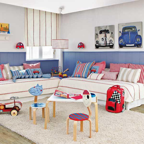 Дизайн детской комнаты для двоих мальчиков — яркий и познавательный