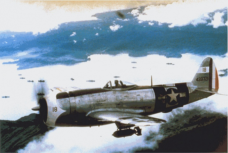 P47 Thunderbolt of the Mexican 201 Squadron, flown in the