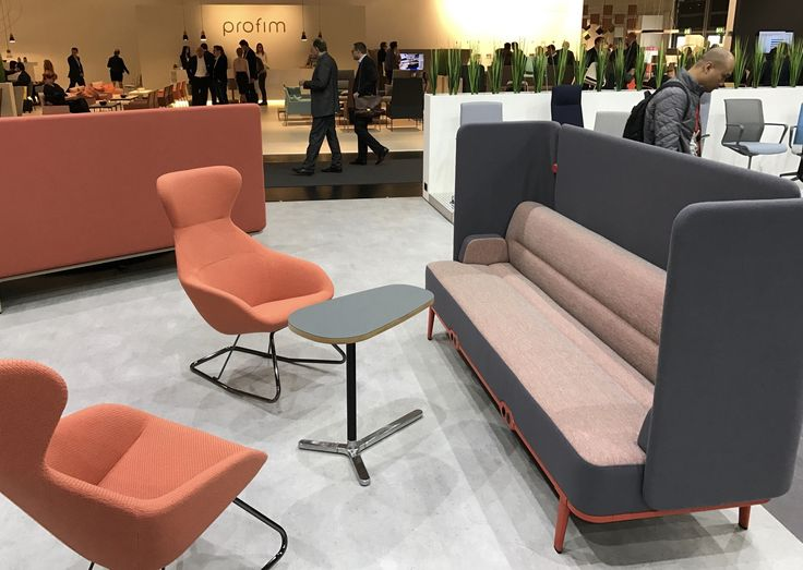 Allermuir at Orgatec 2016   Mote with Famiglia tilt chairs