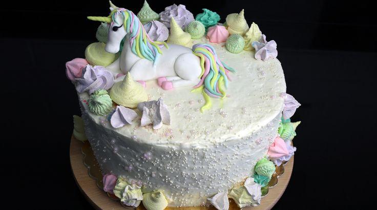 ✨✨ Tort urodzinowy z jednorożcem ✨✨ - ORCHIDELI - LOVE BEAUTY Orchideli - pink unicorn cake. Birthday cake for girl. Pink raspberry cake with fondant unicorn. Orchideli - Tort urodzinowy z jednorożcem - unicorn cake
