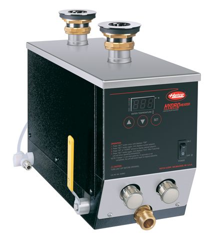 """The Hatco Third Compartment Hydro-Heater Sanitizing Sink Heater  (3CS2 Series) is a high efficiency circulation water heater, using a combination of """"free-flow"""" technology and advanced electronic controls for circulating hot water between 180°F-190°F (82°C-88°C) by natural convention in a sanitizing sink."""