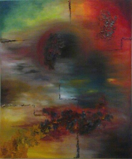 By Jesús Ojeda. Núcleos 4. Year 2010. Oil&sand on canvas (120x100 cm)
