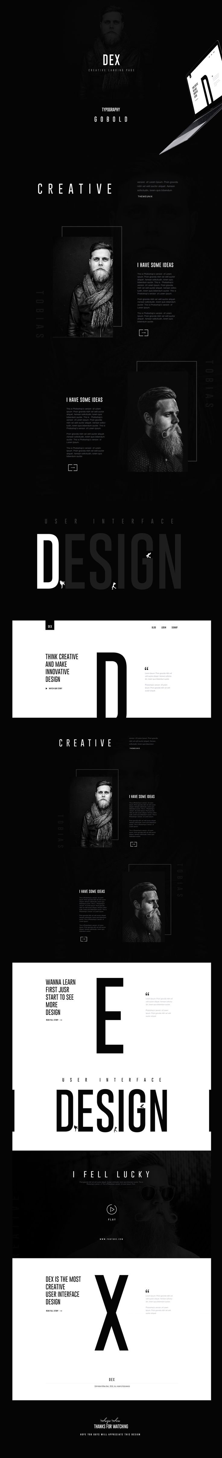 DEX : Creative Landing Page Design