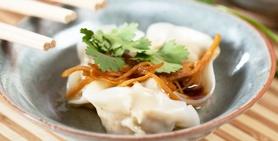 Pork and Prawn Dumplings W Ginger Dressing Recipe
