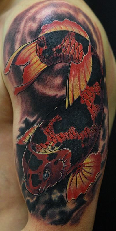 orange koi tattoo designs | by Glenna on March 18, 2011