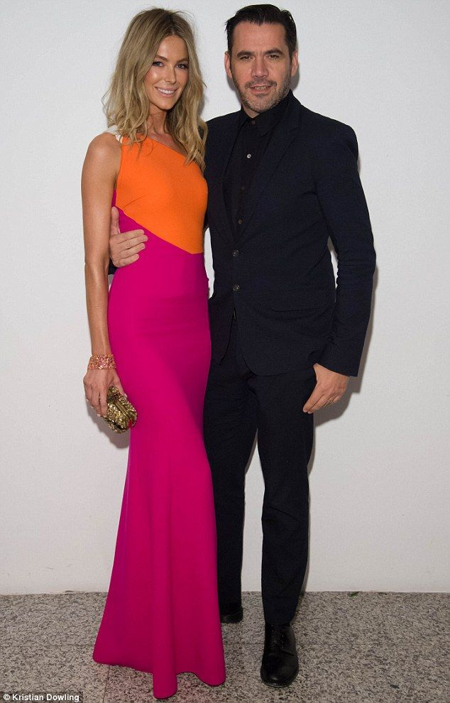 The beautiful Jennifer Hawkins photographed with designer Roland Mouret at The Woolmark Company and MYER celebration of Mouret's new Merino collection!