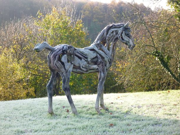 Amazing driftwood horses by Heather Jansch