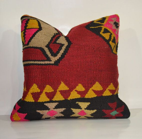Hey, I found this really awesome Etsy listing at https://www.etsy.com/listing/177180202/kilim-pillow-handwoven-vintage-turkish