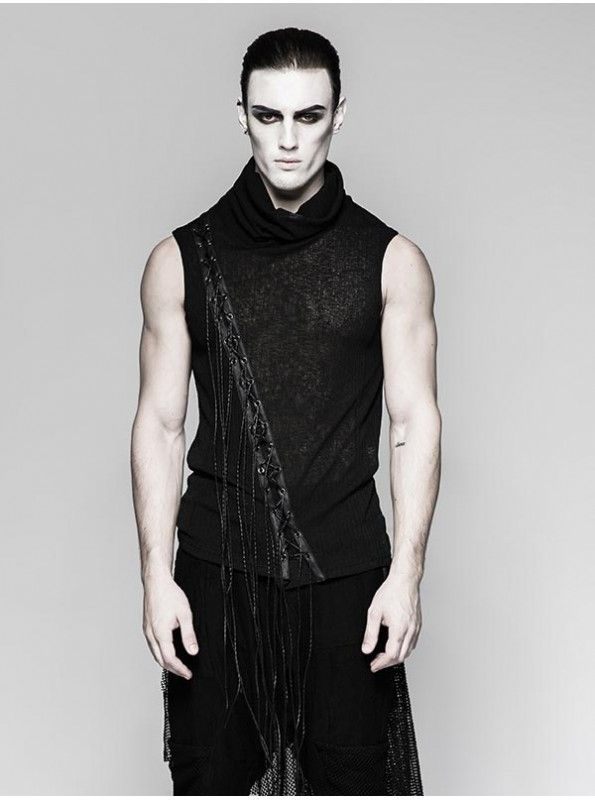 When life gives you Monday dip it in glitter and sparkle your day with our new Black tassel Indie Gothic Punk Rock Scene Clothing sleeveless vest for men.Stop chasing and grab it now from http://bit.ly/tasselvest